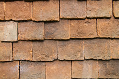 Close up of clay external wall tiles Stock Photography