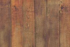 Close up of clean brown wood fencing stock image