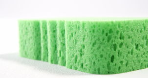 Close-up of cleaning sponge stock footage