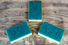 Close up cleaning sponges Royalty Free Stock Photography