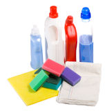 Close-up Cleaning Tool Kit Royalty Free Stock Photography