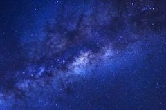 Close up of clearly milky way galaxy with stars and space dust i. N the universe Stock Photos