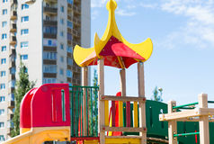 Close up of climbing frame at children playground Royalty Free Stock Photography