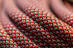 Close up of Climbing rope stock photography