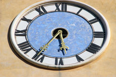 Close-up clock on a church Royalty Free Stock Photos