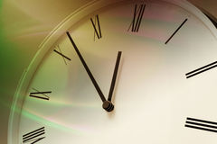 Close Up of Clock Face Royalty Free Stock Images