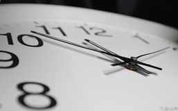 Close-up of clock-face Stock Image
