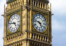 Close-up of the clock face of Big Ben, London Royalty Free Stock Images