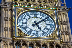 Close-up of the clock face of Big Ben, London Royalty Free Stock Image