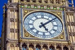 Close-up of the clock face of Big Ben, London Stock Image