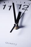 Close up of clock hands Stock Images