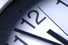 Close up of clock hands Stock Image