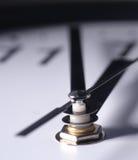 Close up of clock hands Royalty Free Stock Photos