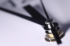 Close up of clock hands Stock Photo