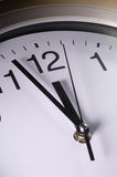 Close up of clock hands Royalty Free Stock Image