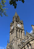 Close up of the clock tower, Manchester Town Hall Stock Photography