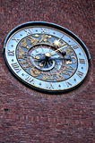 Close-up of clock on Townhall in Oslo, Norway. January 04, 2013 Royalty Free Stock Photos