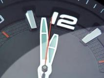 Close up clock almost twelve Stock Images