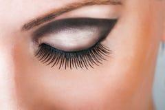 Close-up of closed beautiful eye Royalty Free Stock Photos