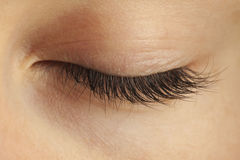 Close-up of closed eye Stock Images