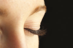 Close-up of closed eye Royalty Free Stock Photography