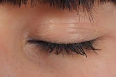 Close-up of closed eye stock photo