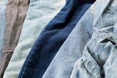 Close up cloth samples Stock Photos