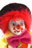 Close up of a clowns face Stock Image