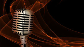 Close up clássico do microfone Fotos de Stock Royalty Free