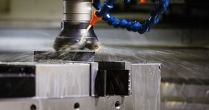 Close up of CNC machine. At work Royalty Free Stock Photos