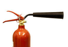 Close up of a CO2 fire extinguisher Stock Photo