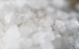 Close-up of coarse sea salt. Macro close-up  of coarse sea salt spilled Royalty Free Stock Photo