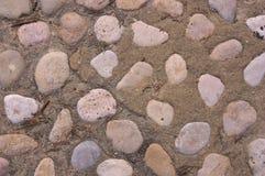 Close-up of a cobblestone. Floor Street Royalty Free Stock Photo