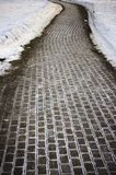 Close up of  cobblestone pavement Royalty Free Stock Photo