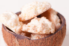 Close up coconut cookies