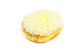 Close up coconut donut. On white background Stock Photography