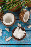 Close up of a coconuts Stock Photos