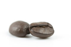 Close up coffee bean on white isolated background Royalty Free Stock Photos