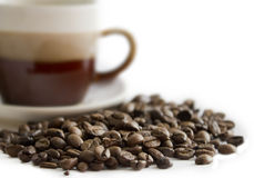 Close-up of coffee beans Royalty Free Stock Photo