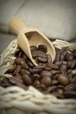 Close up of coffee beans Royalty Free Stock Photos