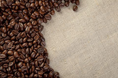 Close up coffee beans  background studio shot Royalty Free Stock Photo
