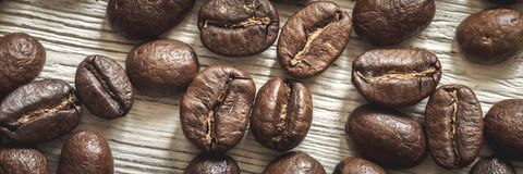 Close-up of coffee beans royalty free stock images