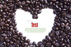 Close up of coffee beans and coffee cup Stock Photo