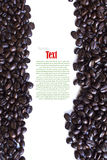 Close up of coffee beans and coffee cup Royalty Free Stock Photos