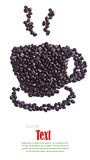 Close up of coffee beans cup shape Stock Image