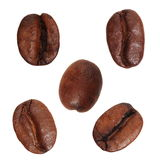 Close up coffee beans, isolated on white Stock Image