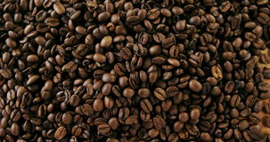 Close-up of coffee beans. Close-up of roasted coffee beans stock video