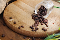 Close up coffee beans Stock Photos