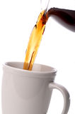 Close up coffee being poured Stock Image