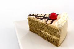 Close up Coffee cake slice. Royalty Free Stock Image